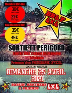 Sortie TT Périgord BB&F 4x4 @ Le Buisson de Cadouin (24)